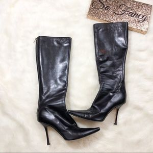 •Jimmy Choo Leather Heel Boots•